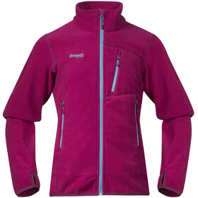Bergans Runde Jacket Girls Cerise/Glacier/Dusty Cerise